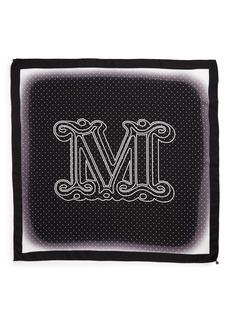 Max Mara Aloejs2 Monogram Silk Scarf