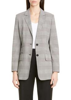 Max Mara Angelo Glen Plaid Cotton Jacket