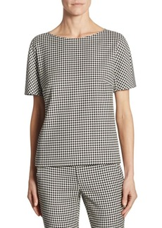 Max Mara Ares Houndstooth Blouse