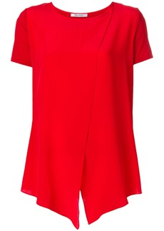 Max Mara asymmetric crossover blouse - Red