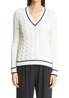 Max Mara Begica Cable Cotton & Silk Blend Sweater