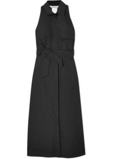 Max Mara Belted cotton-twill midi dress