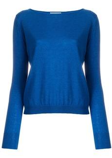 Max Mara boat neck knit top - Blue