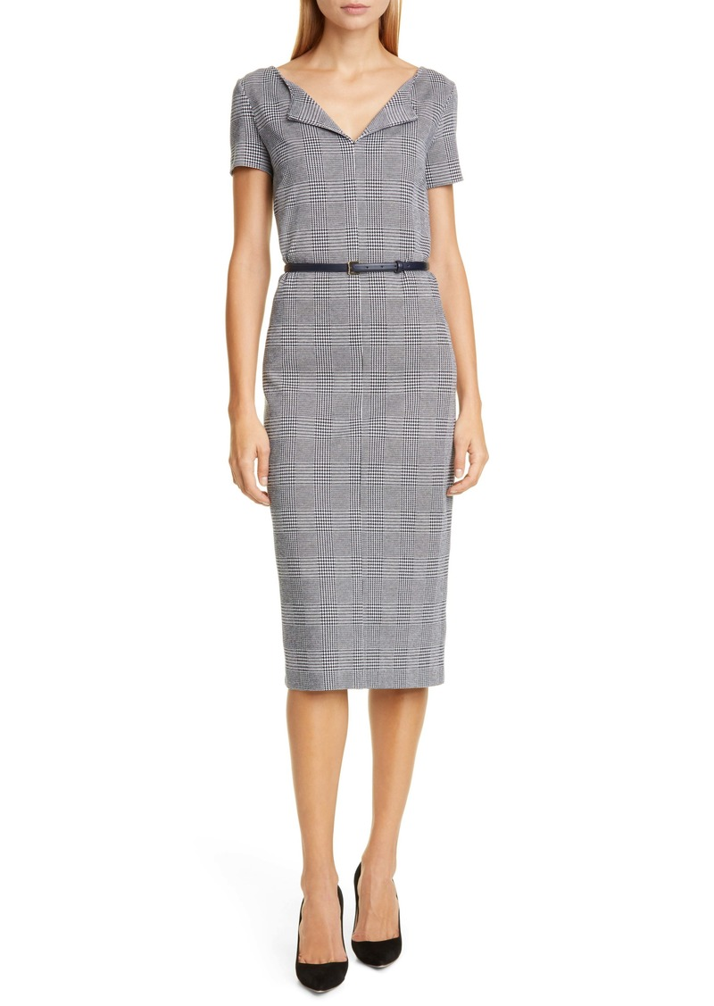 Max Mara Boris Houndstooth Sheath Dress