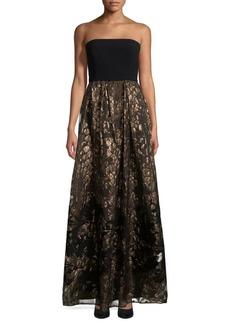 Max Mara Brocade Evening Gown