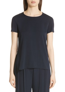 Max Mara Bronte Jersey Back Silk Charmeuse Tee