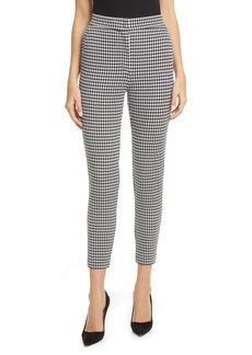 Max Mara Bruno Houndstooth Knit Ankle Pants