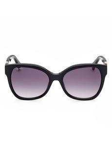 Max Mara Butterfly 56mm Gradient Cat Eye Sunglasses