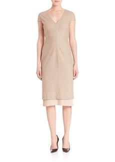 Max Mara Cap-Sleeve Knit Dress