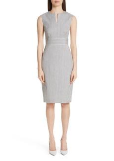 Max Mara Caraffa Stripe Cotton & Linen Dress
