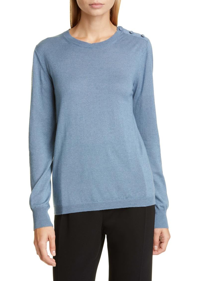 Max Mara Caraibi Shoulder Button Silk & Cashmere Sweater