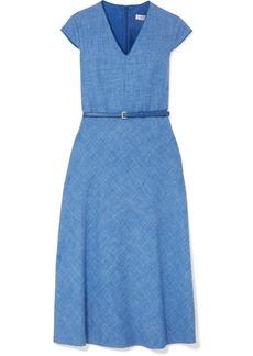 Max Mara Caramba silk, linen and wool-blend midi dress