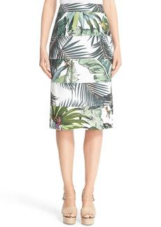 Max Mara Cinzia Tropicala Print Skirt
