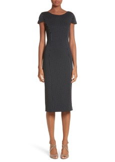 Max Mara Cirino Polka Dot Sheath Dress