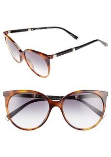 Max Mara Desigi 55mm Gradient Cat Eye Sunglasses