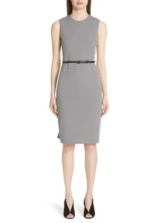 Max Mara Destino Checkered Jacquard Sheath Dress