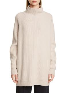Max Mara Disco Oversize Funnel Neck Wool & Cashmere Sweater