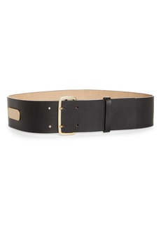 Max Mara Double Prong Leather Belt