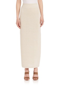 Max Mara Douglas Striped Knit Maxi Skirt