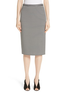 Max Mara Egoista Stripe Pencil Skirt