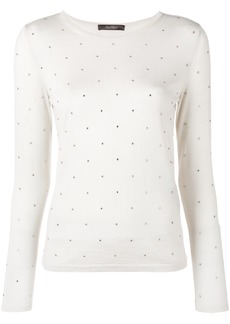 Max Mara embellished knitted top - Nude & Neutrals