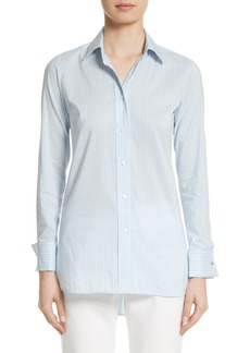 Max Mara Filato Stripe Cotton & Silk Shirt