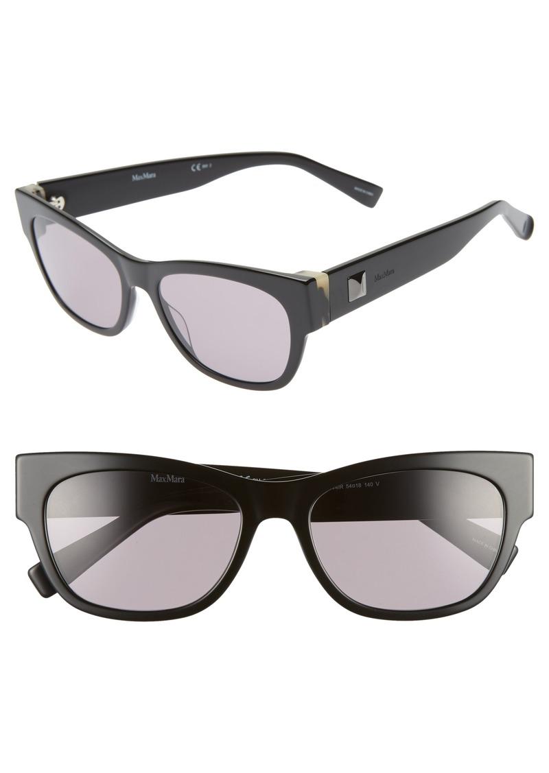 Max Mara Flat II 54mm Cat Eye Sunglasses