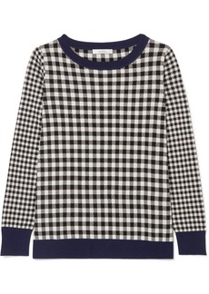 Max Mara Gingham silk and cashmere-blend sweater