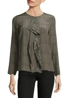 Max Mara Herringbone Silk Shirt