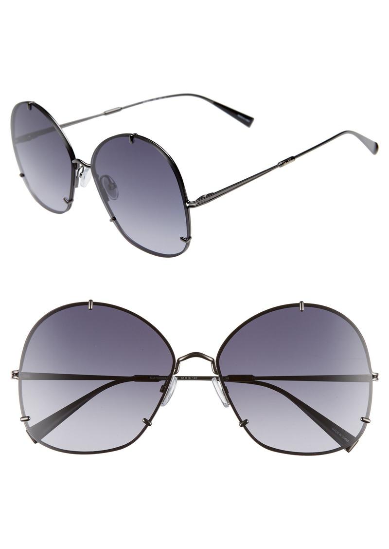 Max Mara Hooks 61mm Aviator Sunglasses
