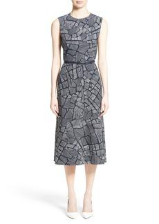 Max Mara Jasmine Print Midi Dress