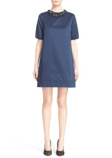 Max Mara 'Labile' Dress with Removable Embellished Collar