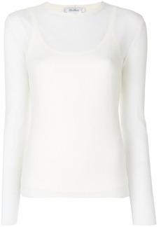 Max Mara layered knit top - White