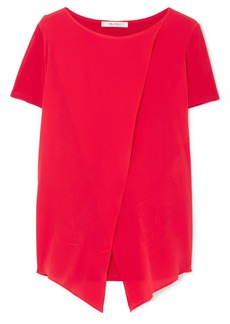 Max Mara Layered Silk-georgette And Stretch-jersey Top