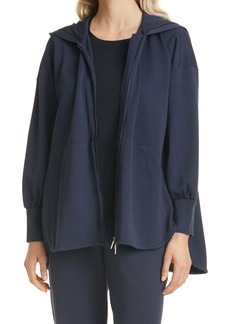 Max Mara Leisure Cotton Jersey Zip-Up Hoodie
