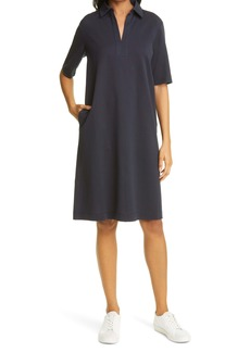 Max Mara Leisure Enfasi Cotton Jersey Polo Dress