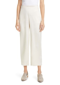 Max Mara Leisure Enfasi Satin Crop Wide Leg Pants