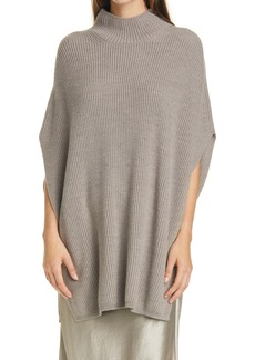Max Mara Leisure Fulmine Wool Poncho Sweater
