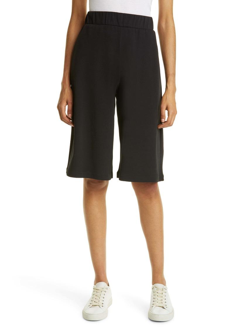 Max Mara Leisure Genero Crop Wide Leg Cotton Blend Jersey Pants