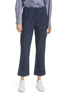 Max Mara Leisure Pazzo Tie Waist Crop Jeans (Midnight Blue)