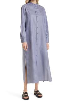 Max Mara Leisure Pinstripe Long Sleeve Cotton Shirtdress