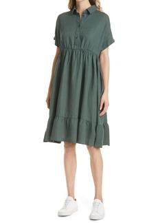 Max Mara Leisure Ruffle Hem Linen Dress