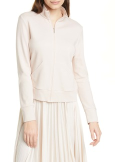 Max Mara Leisure Zip Front Cotton Blend Jacket