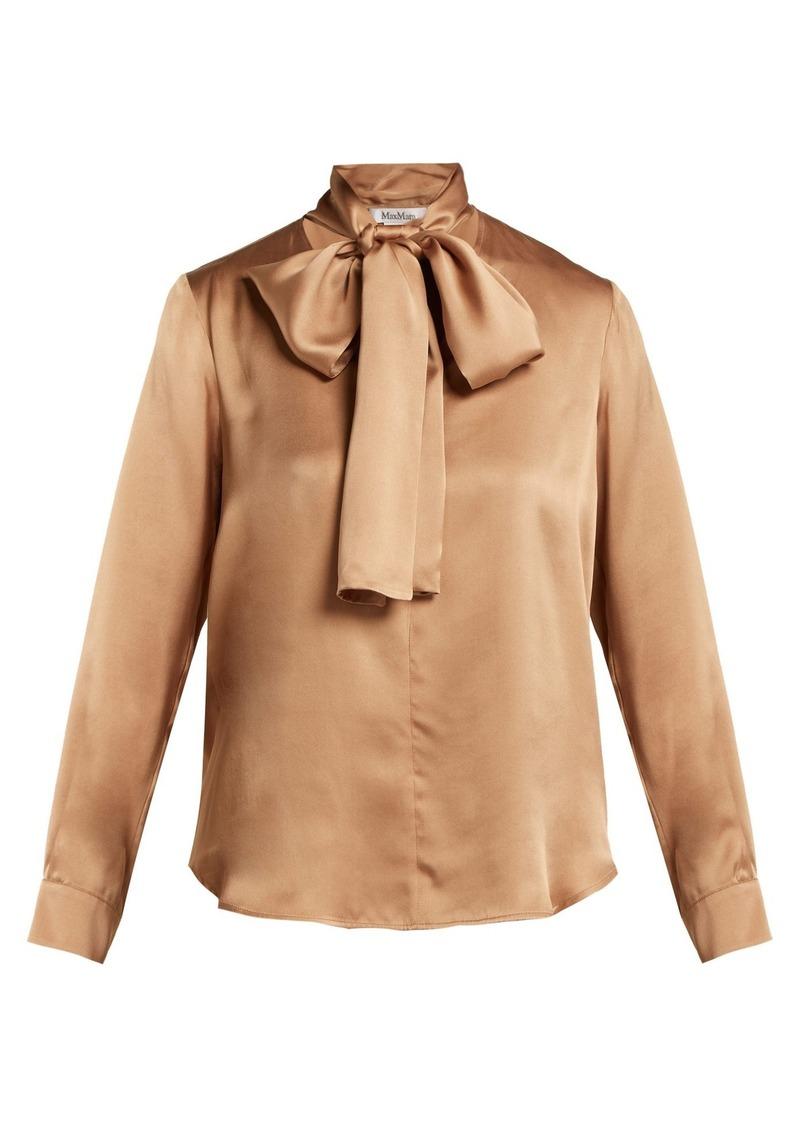 126ce8667c5d39 Max Mara Max Mara Lignano pussy-bow silk-satin blouse