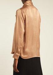 Max Mara Lignano pussy-bow silk-satin blouse