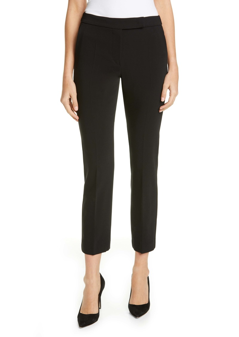 Max Mara Louvre Slim Stretch Wool Ankle Pants