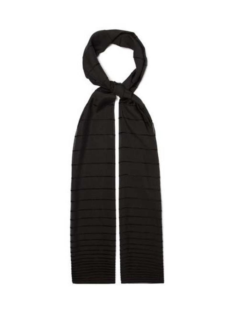 Max Mara Lurex-stripe scarf