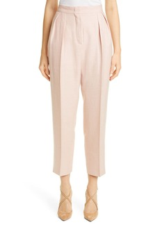 Max Mara Mantide Pleated Silk, Linen & Wool Crop Pants