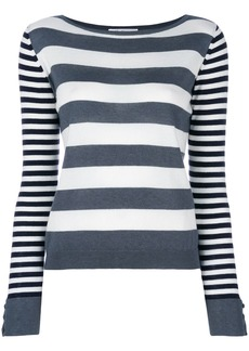 Max Mara Marica striped-knit sweater - White