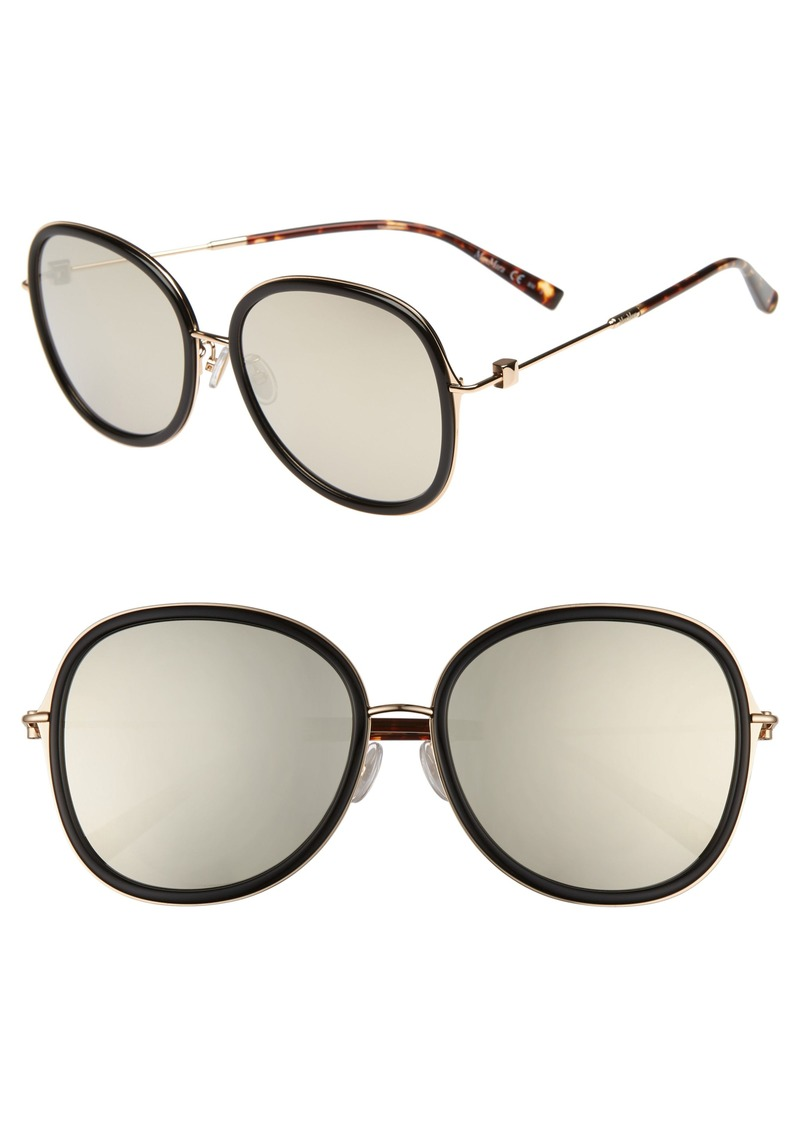 Max Mara Marilyn 58mm Special Fit Round Sunglasses